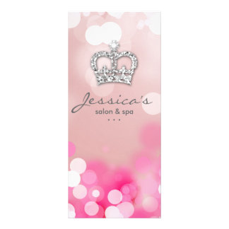 Salon Marketing Cards Pink Lips & Lights Crown
