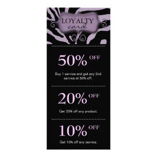 Salon Marketing Cards Purple Zebra