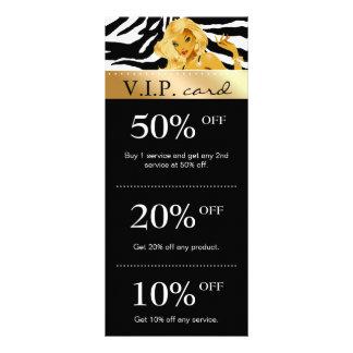 Salon Marketing Cards Zebra Gold Blonde Tanning