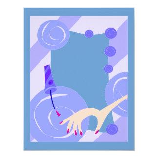 SALON NAILPOLISH BEAUTY FASHION SPA BLUES CARTOON CARD