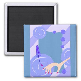 SALON NAILPOLISH BEAUTY FASHION SPA BLUES CARTOON MAGNET