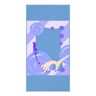 SALON NAILPOLISH BEAUTY FASHION SPA BLUES CARTOON CUSTOM PHOTO CARD
