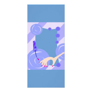 SALON NAILPOLISH BEAUTY FASHION SPA BLUES CARTOON RACK CARD