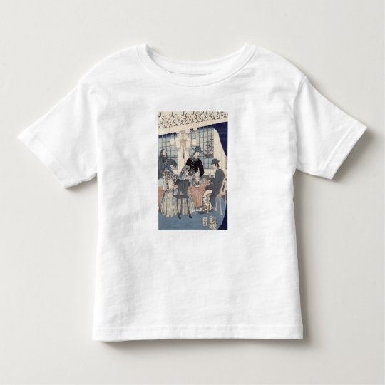 Salon of a house of foreign merchants at toddler t-shirt