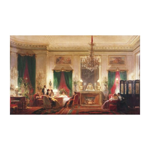 Salon of Princess Mathilde Bonaparte Canvas Print