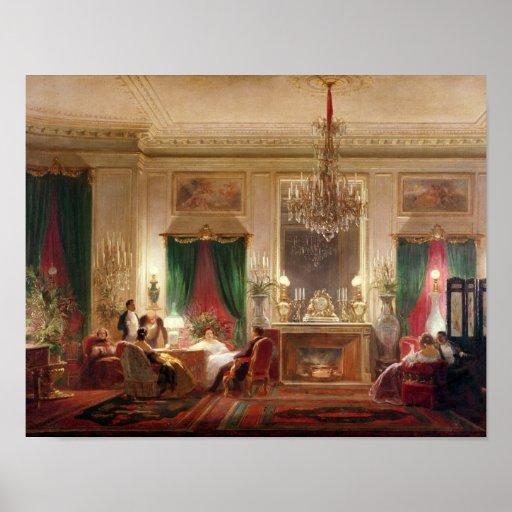 Salon of Princess Mathilde Bonaparte Poster