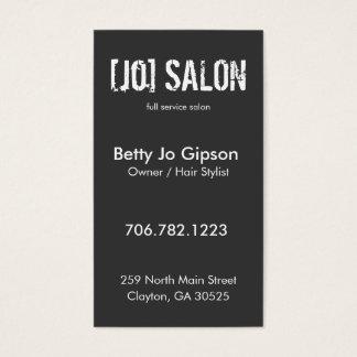 Salon Owner Stylist Business Card