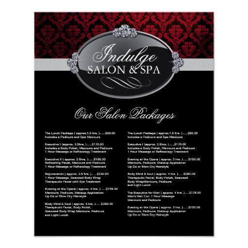 Salon Price List Poster
