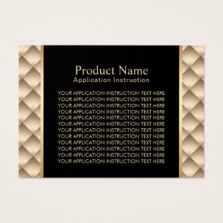 Salon Product Modern Gold Application Instructions Business Card