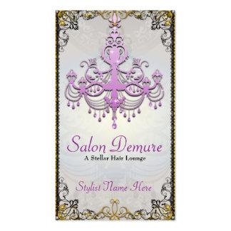Salón púrpura de plata sofisticado moderno del oro tarjetas de visita