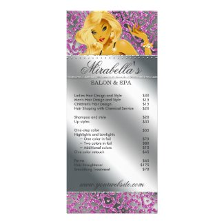 Salon Rack Card Jewelry Tanning Silver Sparkle Pin