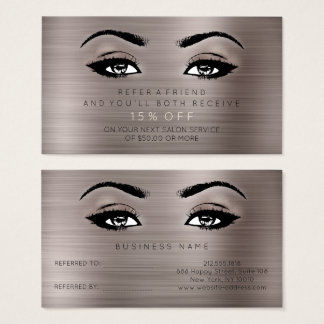 Salon Referential Card Lashes Makeup Caffe Noir