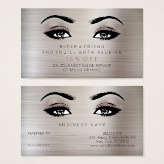 Salon Referential Card Lashes Makeup Noir Titanium