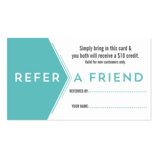 Salon referral business card zazzle for Zazzle referral cards