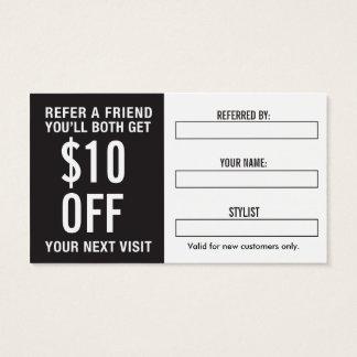 Salon Referral Business Card