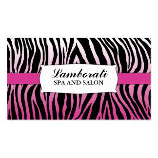 Salón rosado del peluquero del estilista del tarjetas de visita