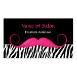 Salón rosado y negro del bigote femenino de la ceb tarjeta de visita