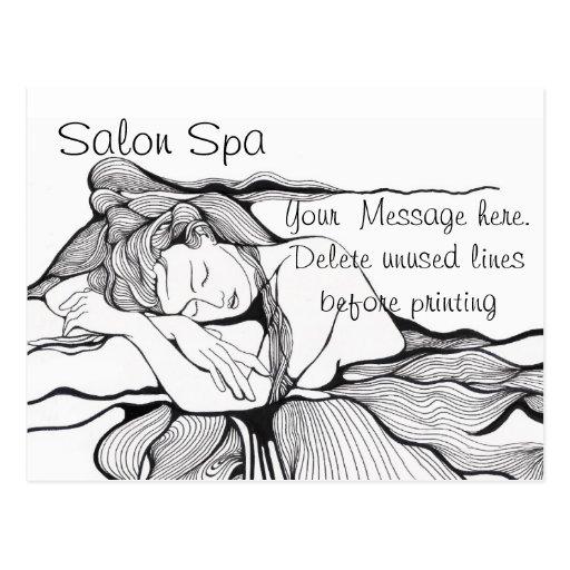 Salon spa advertising postcard zazzle for X salon mulund rate card