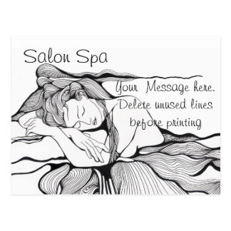 Salon Spa Advertising Post Cards