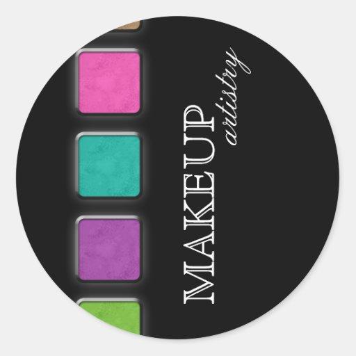 Salon spa beauty sticker makeup artist palette zazzle for Stickers salon