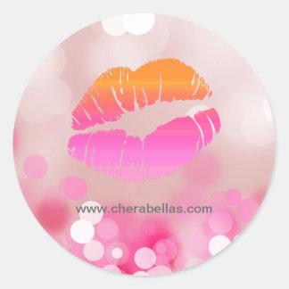 Salon spa beauty sticker pink lips and lights