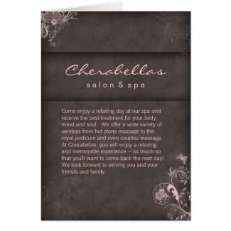 Salon Spa Brochure Pink Taupe Floral card