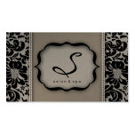 Salon Spa Business Card Taupe Damask Floral