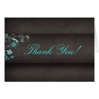 Salon Spa Butterfly Thank You Greeting Card