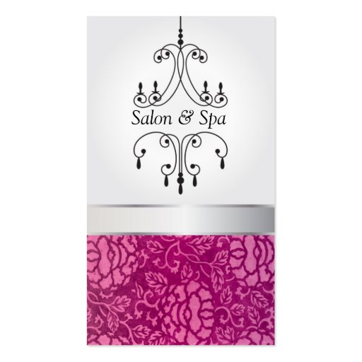 Salon & Spa Chandelier Double-Sided Standard Business Cards (Pack Of 100)