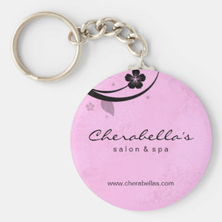 Salon Spa Floral Key Chain Gift watery pink