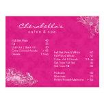 Salon Spa Floral Postcard Brochure Pink