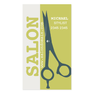Salon  Spa Hair Styling Scissors Business Cards