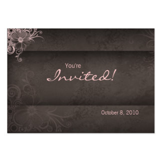 Salon spa Invitation pink brown Postcard Large Business Cards (Pack Of 100)