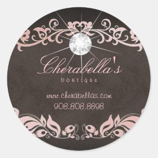 Salon spa jewelry sticker diamond pink brown sd 2
