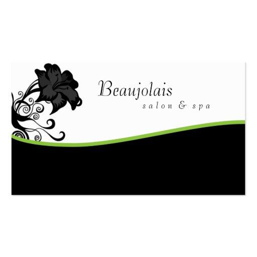 Salon Spa Massage Therapy Business Card Green