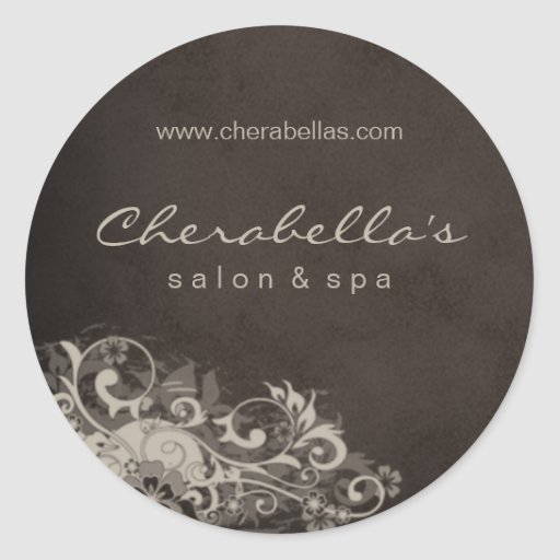 Salon spa sticker beige brown zazzle for Stickers salon
