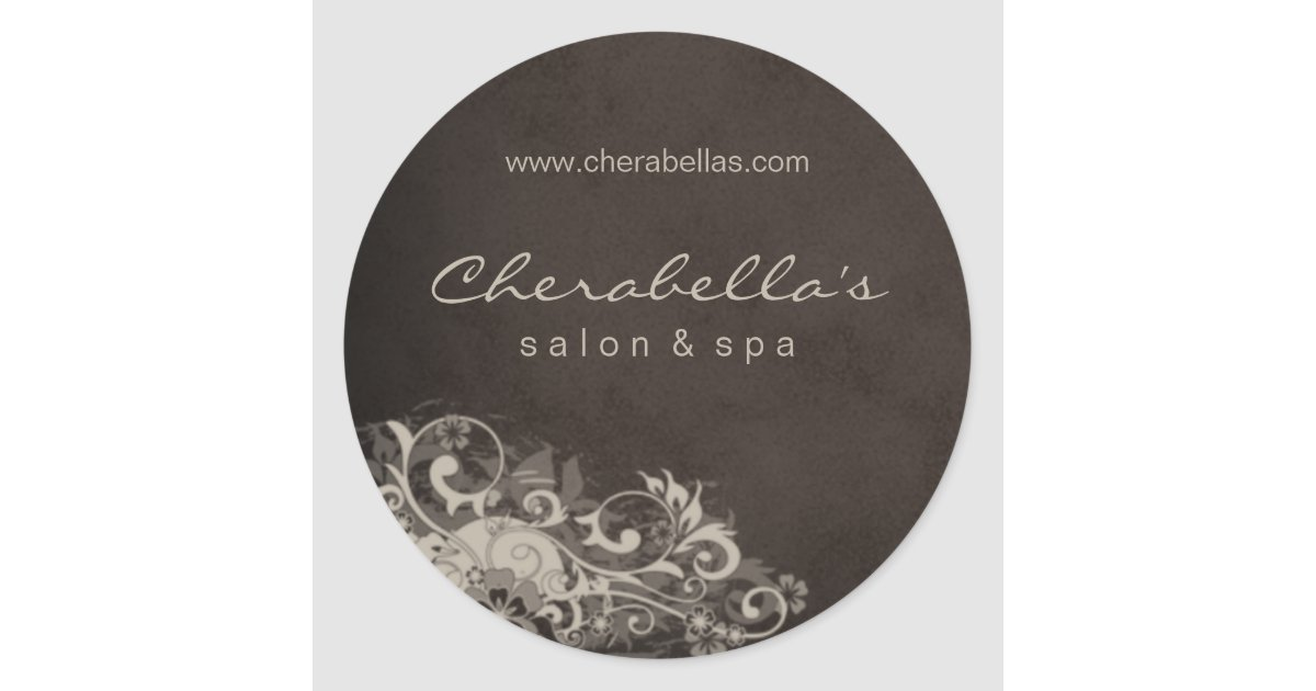 Salon spa sticker beige brown zazzle - Slon beige ...