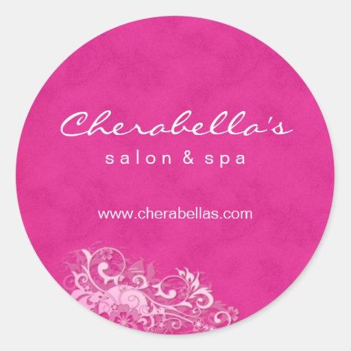 Salon spa sticker pink white suede zazzle for Stickers salon