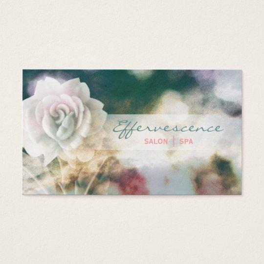 Salon Spa Stylist Floral blue Grunge Business Card