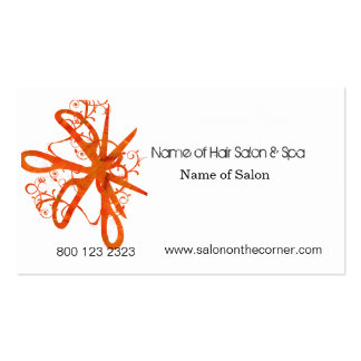 Salon Spa Swirl Scissors Double-Sided Standard Business Cards (Pack Of 100)