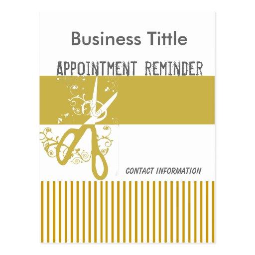 Salon stylist appointment reminder postcard zazzle