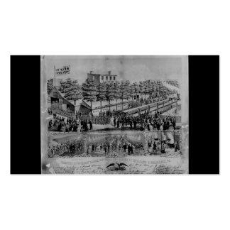 Salón voluntario del refresco circa 1861 tarjetas de visita