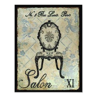 "Salon XI ~ Invitation 4.25"" X 5.5"" Invitation Card"