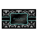 Salón y balneario blancos y negros elegantes del d plantilla de tarjeta personal