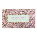 Salón y boutique coloridos de belleza del brillo tarjetas de visita