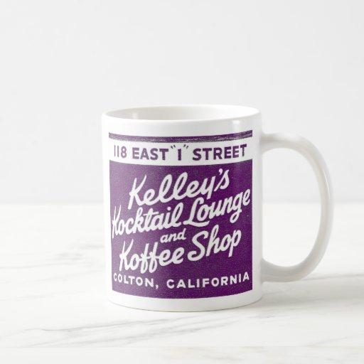 Salón y Koffee de Kocktail de Kelly del vintage Taza Básica Blanca