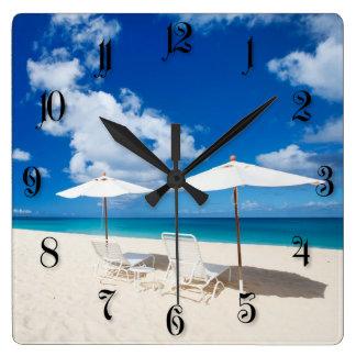 Salones en la playa relojes de pared