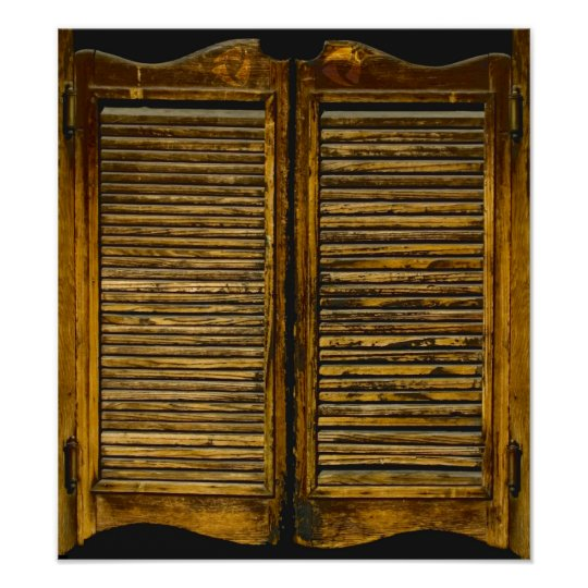 Saloon Doors For Your Cubicle Poster