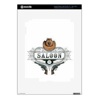 saloon vintage cowboy guns iPad 3 skins
