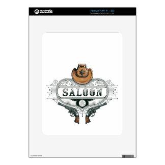 saloon vintage cowboy guns iPad skins